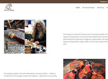 Zinck Design – hjemmeside med lille webshop